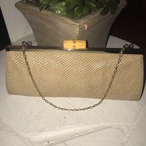 LOFT Bags - Snakeskin clutch